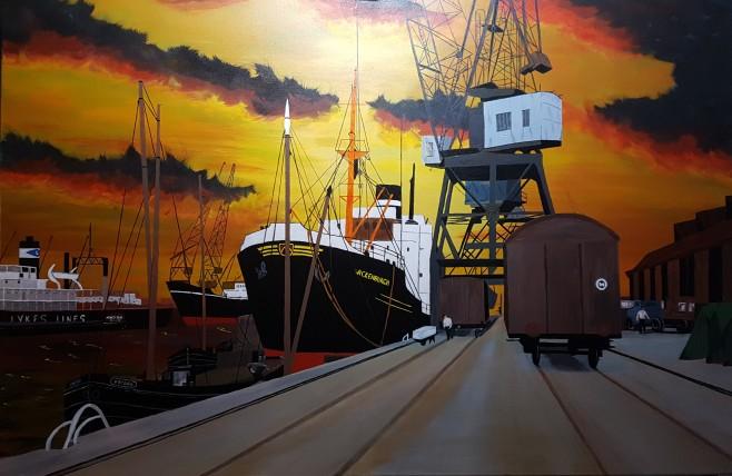 Waalhaven 80x120 cm (Verkocht/Sold)